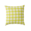 Limoncello Gingham Cushion + Inner by Society of Wanderers