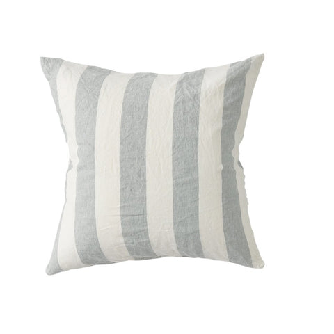 Fog Stripe Linen Cushion + Inner by Society of Wanderers