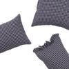 French Navy Grid Pillowcase set by Society of Wanderers at Unearthed Homewares