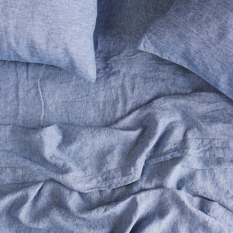 Society of Wanderers - Linen Fitted Sheet | Chambray