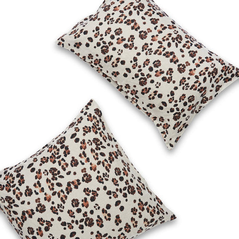 Leopard Spot Pillowcase set by Society of Wanderers at Unearthed Homewares