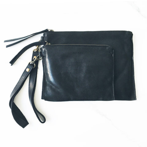 JuJu + Co - Flat Pouch Black | Small
