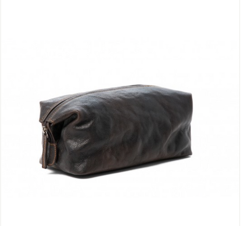 Leather - Toiletry bag | Wet Pack ||