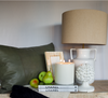 Acorn Bookends + Farmhouse Lamp + Leather Cushion @unearthed Homewares
