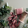 Dusty Pink Linen Ribbon at Unearthed Homewares