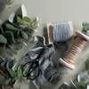 Sage Green Linen Ribbon at Unearthed Homewares