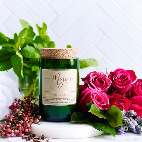 Rose, Pepper + Blackmint | Wine Bottle Candle