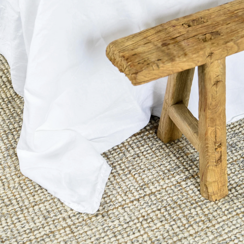 Carter Wool Rug, Wool + Jute mix at Unearthed Homewares