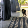 Jones Stripe jute rug in graphite and natural by zebra home at Unearthed Homewares