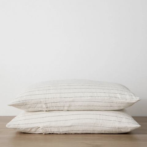 Pencil stripe by Cultiver , pillowcase set. Shop online at Unearthed Homewares