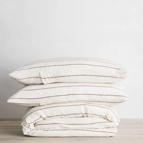 Cedar Stripe Duvet Cover Set at Unearthed Homewares