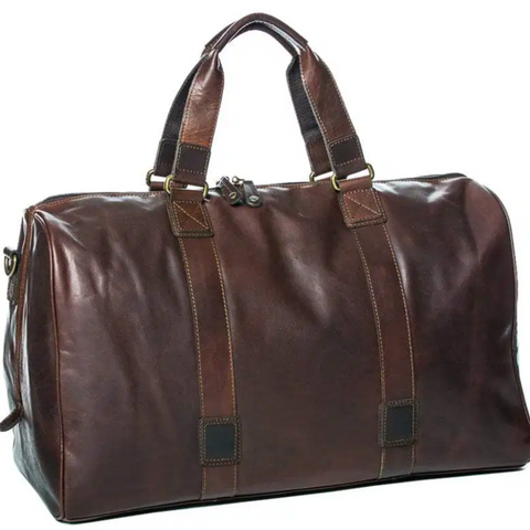 Leather Travel overnight weekend bag at Unearthed Homewares