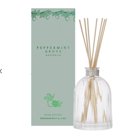 passionfruit and lime diffuser from peppermint grove at Unearthed Homewares