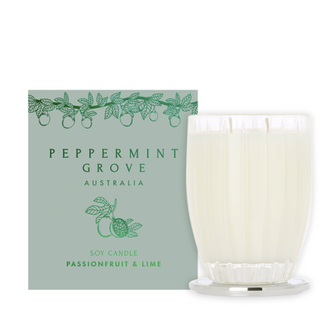 passionfruit and lime candle byt peppermint grove at Unearthed Homewares