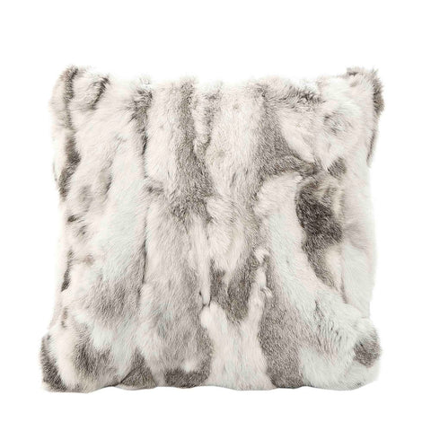 Siberian Fur Cushion in Grey and White at Unearthed Homewares