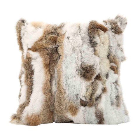 Siberian Fur Cushion in Natural Tones at Unearthed Homewares