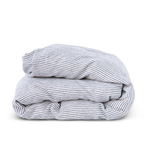 Society of Wanderers - Duvet Cover | Charcoal Stripe