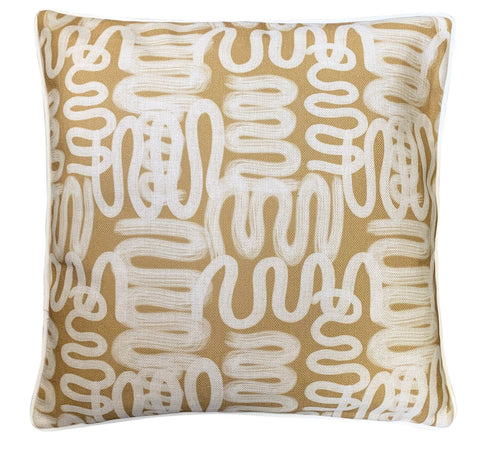 Cushion Cover | Camel Squiggle Art