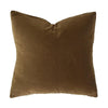 Velvet Square Cushion | Tobacco