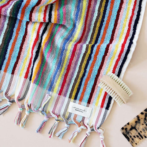 vivid lines bath towel from miss April at Unearthed homewares