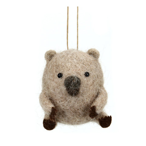 Xmas Decor | Wool Felt Wombat