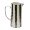 Black and White Stripe Jug at Unearthed Homewares
