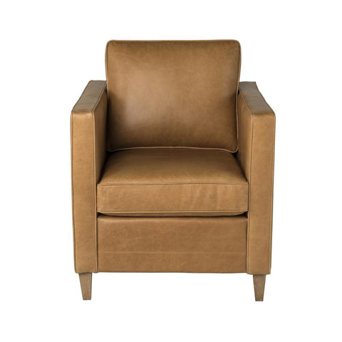 Carrington Armchair | Tan Leather