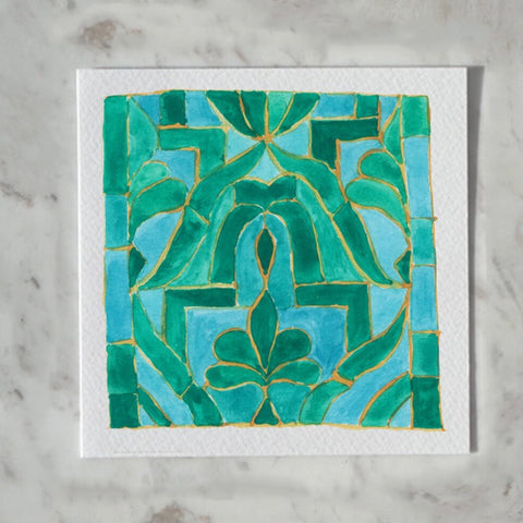 Moroocan Tile Card by Carina Chambers at Unearthed Homewares