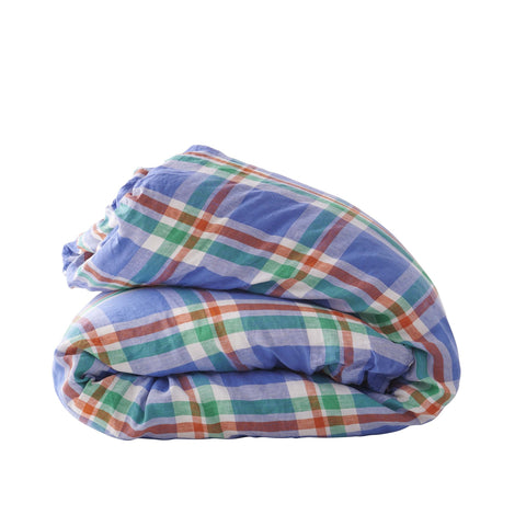 Society of Wanderers - Duvet Cover | Cornflower Check