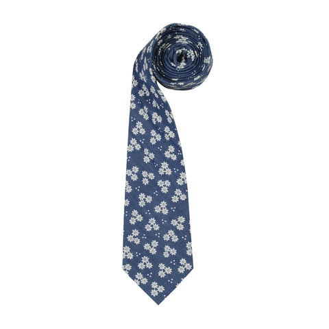 Chambray Daisies Mens tie by ORTC at Unearthed Homewares