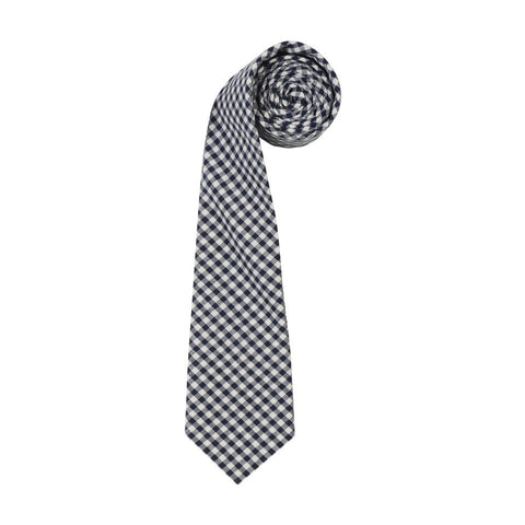 Bluye Gingham mens Tie by ORTC at Unearthed Homewares