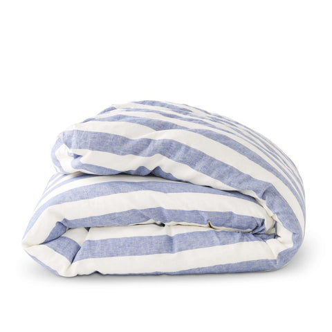 Society of Wanderers - Duvet Cover | Chambray Stripe