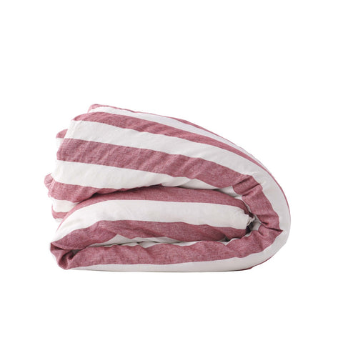 Society of Wanderers - Duvet Cover | Sangria Stripe