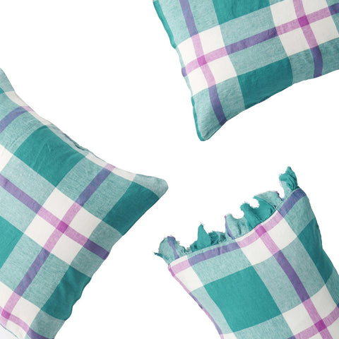 Jelly Bean Check pillowcase set by Society of wanderers at Unearthed Homewares