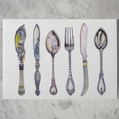 Joan Mayr's Silver Cards by Carina Chambers at Unearthed Homewares