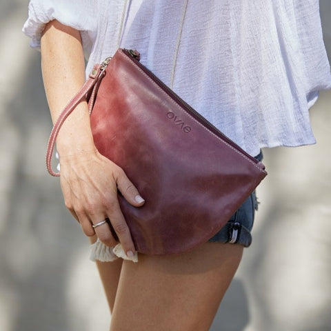 Ovae New Moon Clutch in Pinot at Unearthed Homewares
