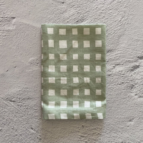 Napkins - Simplicity Series | Gingham Gum Green - Set 4
