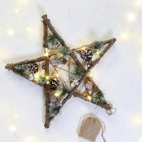 Christmas Star | Eucalyptus and Pine Cone