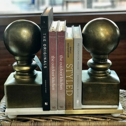 Gold Finial Doorstop / bookends at Unearthed Homewares