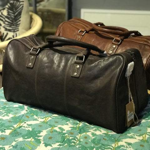 Leather Weekender - Sean | Brown