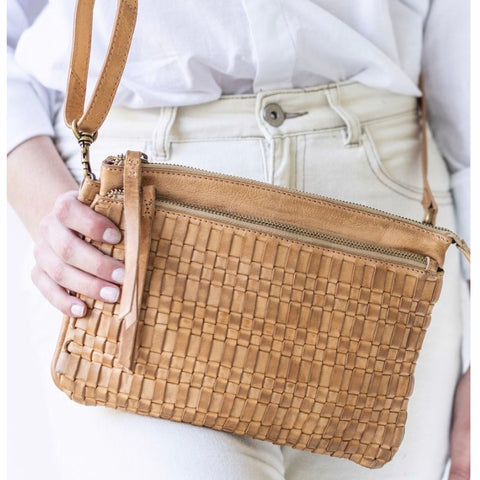 JuJu & Co - Woven Crossbody Bag -Natural
