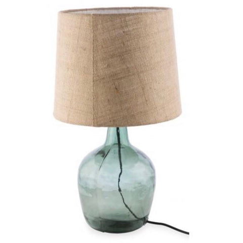 Glass Lamp with Natural Shades