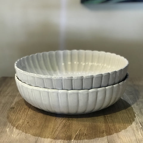 Tulierres Serving Bowl in White at Unearthed Homewares