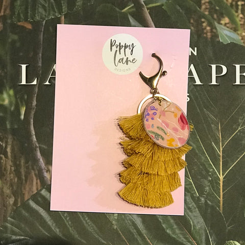 Tassel Tag Keyring 3 | Poppy Lane