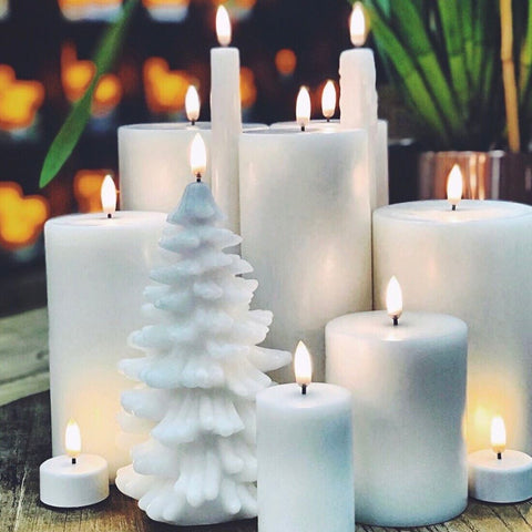 Flameless Candle | Nordic White | Taper Set 2