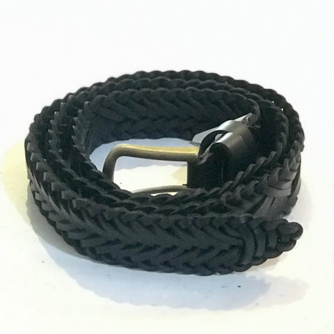Black Leather belt by Oran  Leather at Unearthed Homewares