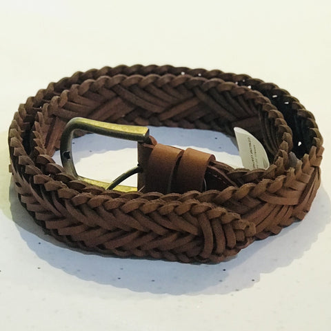 Woven Leather Belt from Oran Leather at Unearthed Homewares
