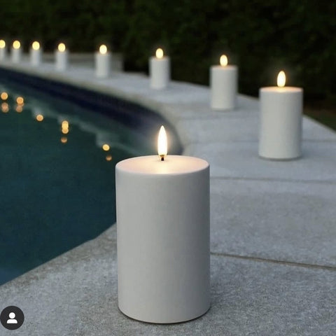 Flameless Candle | Nordic White | Outdoor Range