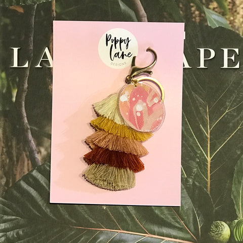 Tassel Tag Keyring 2 | Poppy Lane