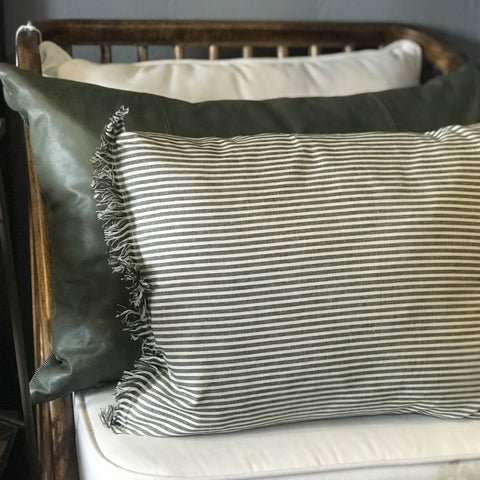 Olive Stripe Cushion